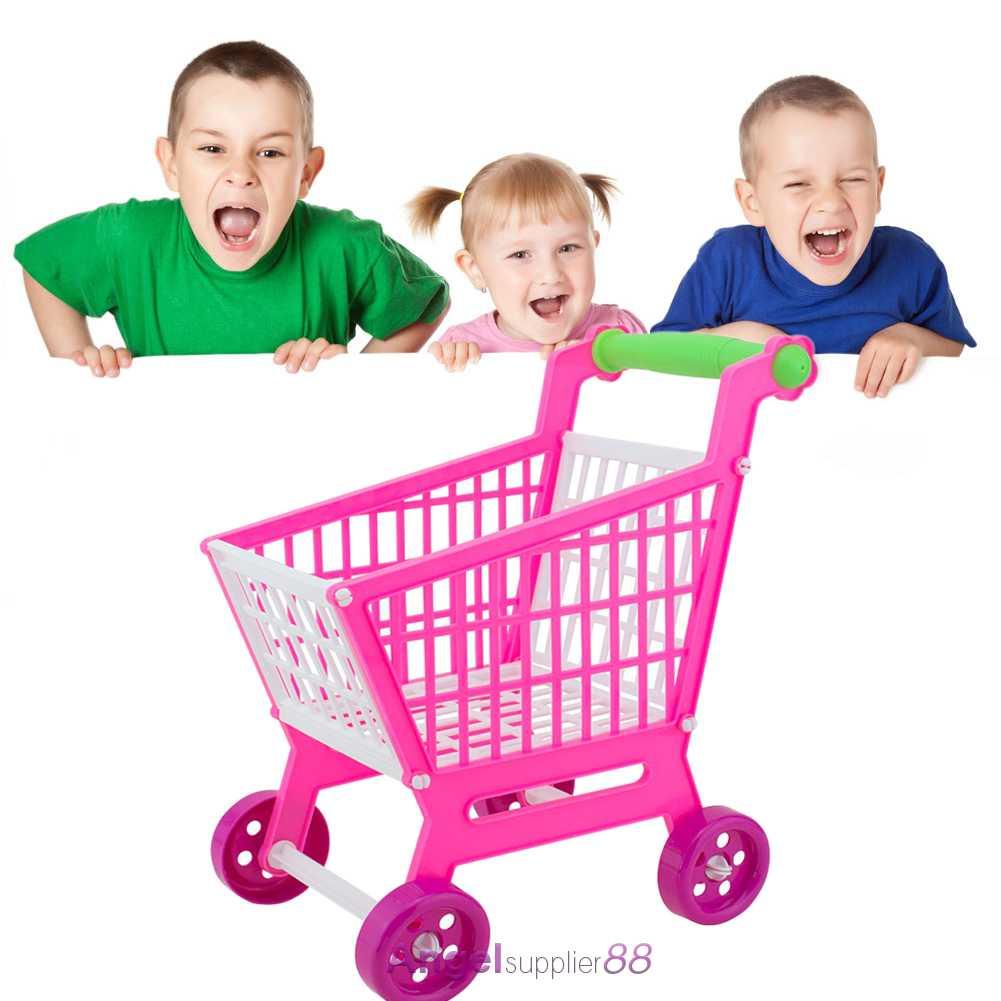 pink shopping trolley supermarket kids children shopping cart pretend play toy a ebay. Black Bedroom Furniture Sets. Home Design Ideas