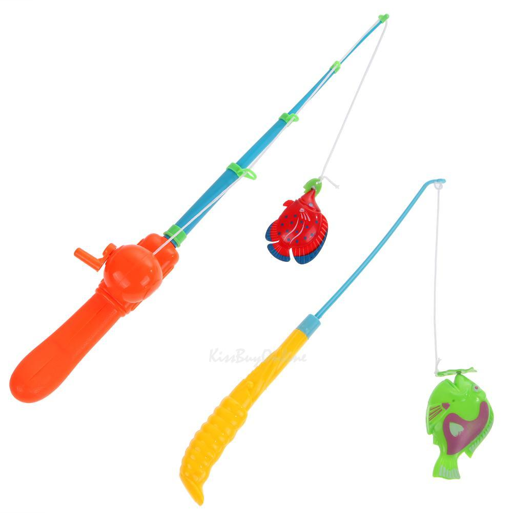 20x magnetic fishing game set toy rod fish catch hook pull for Baby fishing pole