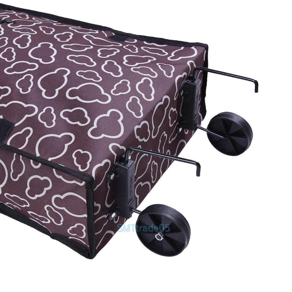 portable foldable rolling wheel cart trolley shopping bag handle carry tote case ebay. Black Bedroom Furniture Sets. Home Design Ideas