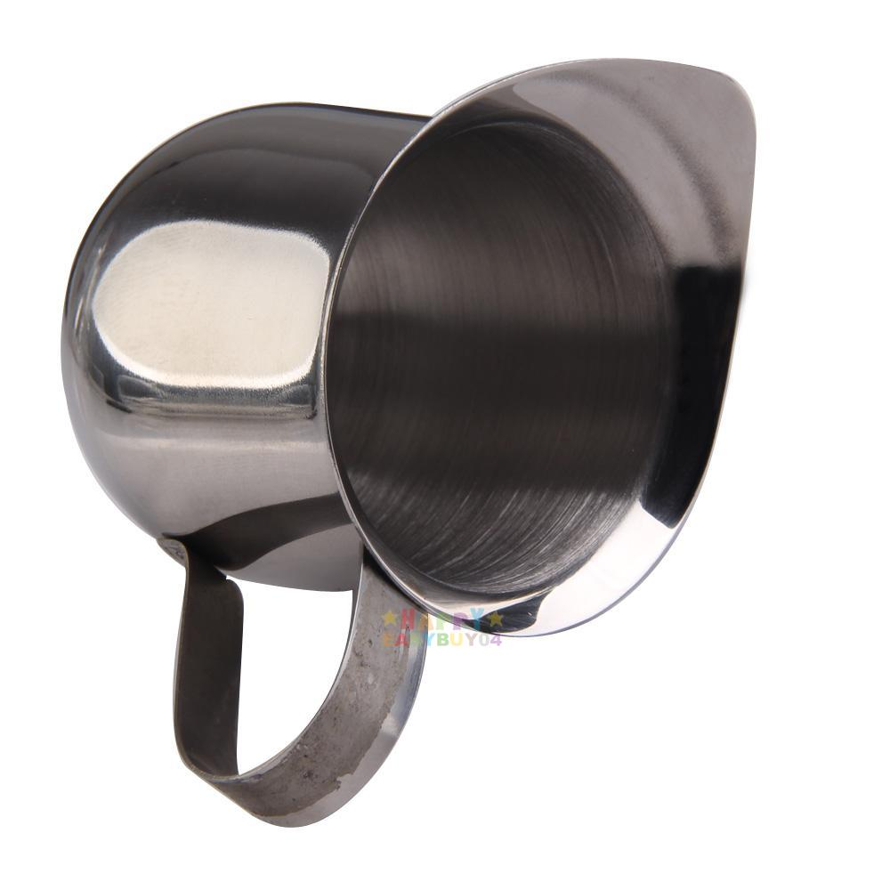 Coffee Maker Stainless Steel Jug : New Coffee Maker Espresso Latte Stainless Steel Pot Milk Cream Cup Jug 90ml eBay