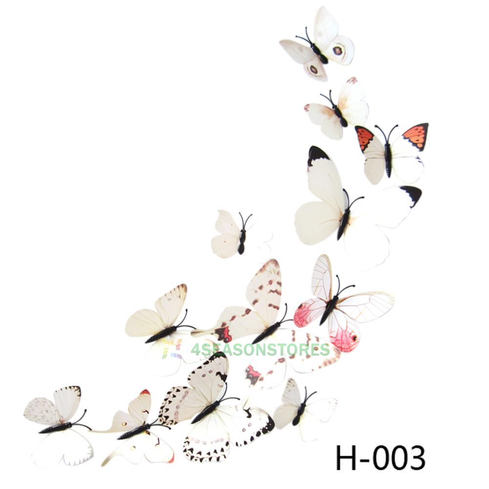 Details about 12 pcs 3d pvc butterflies diy butterfly art decal home
