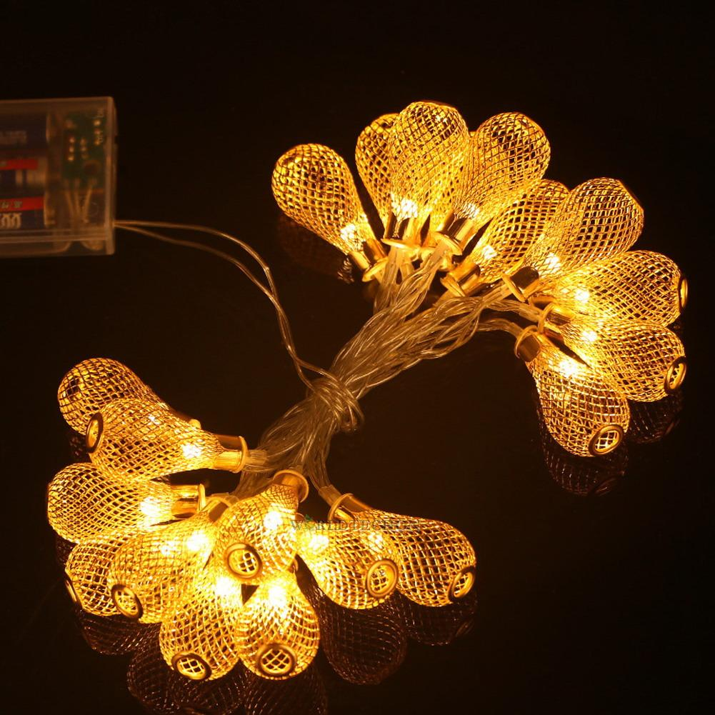 20-LED Metal Mesh Lantern String Fairy Light Colorful Lamp Wedding Party Decor eBay