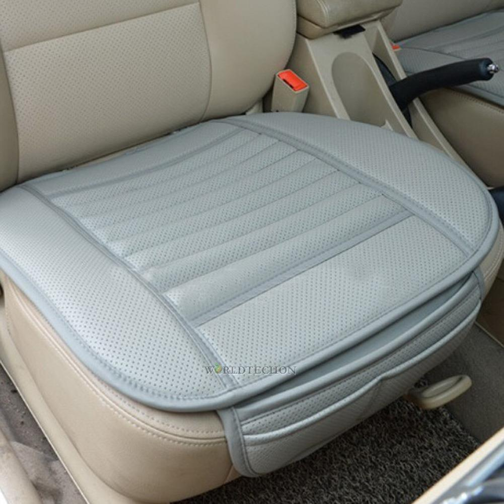 car front seats cover pu leather bamboo single bucket seat protector mat cushion ebay. Black Bedroom Furniture Sets. Home Design Ideas