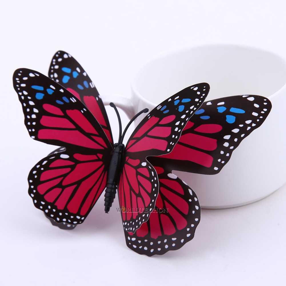 12pcs 3d Magnetic Butterflies Diy Butterfly Decal Home