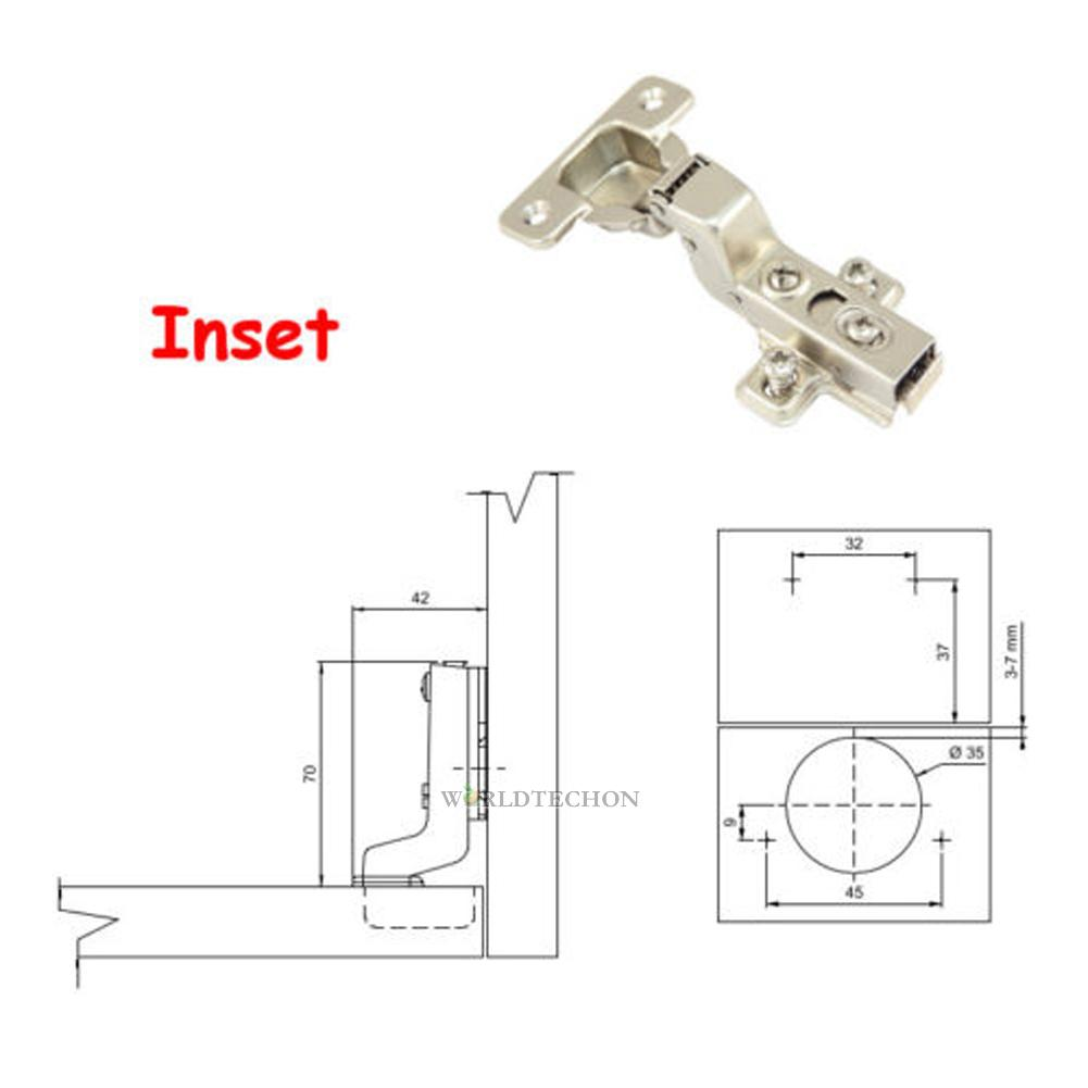 Stainless Steel Self Close Hydraulic Cabinet Hinges Full ...