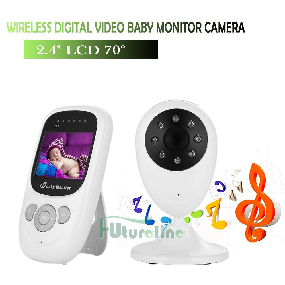 2 4ghz wireless digital lcd color baby monitor camera audio video night vision ebay. Black Bedroom Furniture Sets. Home Design Ideas