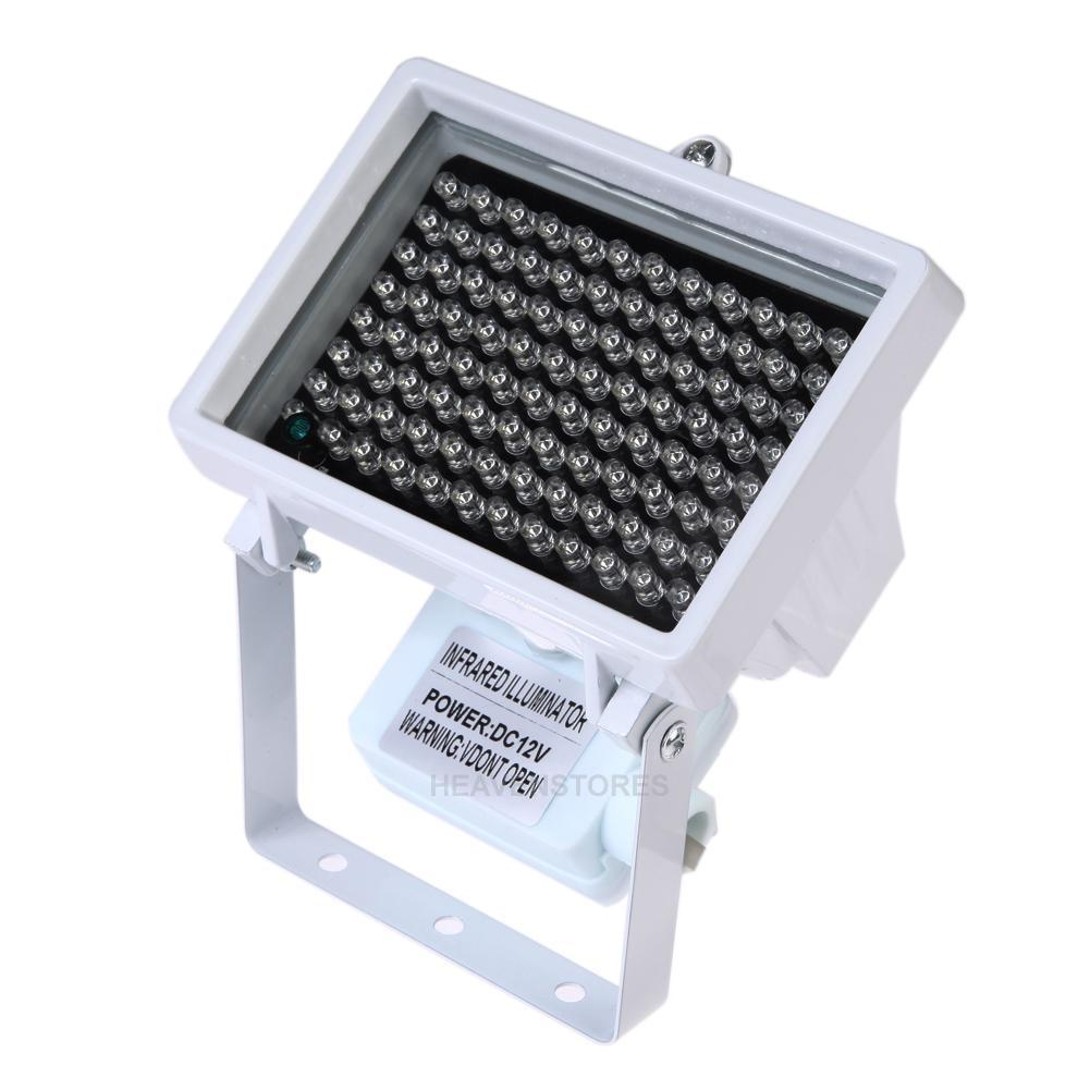 96 LED 12V Nachtsicht IR Infrarot Strahler Licht Lampe CCTV Kamera Weiß NEU  -> Led Lampe Infrarot