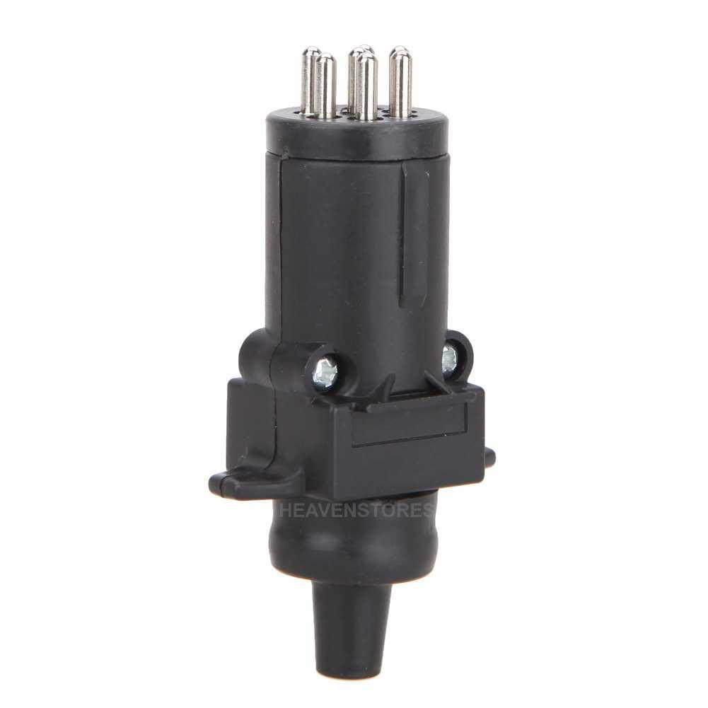 pin 12 volt cable connector round plug socket truck trailer light lamp. Black Bedroom Furniture Sets. Home Design Ideas